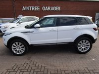 USED 2013 63 LAND ROVER RANGE ROVER EVOQUE 2.2 ED4 PURE 5d 150 BHP 1 OWNER IN WHITE