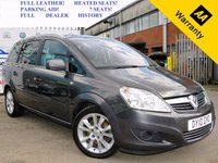 USED 2010 10 VAUXHALL ZAFIRA 1.9 ELITE CDTI 5d 150 BHP! p/x welcome! FULL VAUXHALL SERVICE HISTORY! FULL LEATHER! HEATED SEATS! PARKING AID! PRIVACY GLASS! FULL OF EXTRAS! LEATHER HEATED SEATS! PARKING SENSORS! PRIVACY GLASS! AUX INPUT! 2 OWNERS! FULL DEALERSHIP HISTORY! 12 MONTHS  AA BREAKDOWN COVER! WARRANTY!