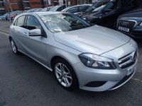 USED 2014 63 MERCEDES-BENZ A CLASS 1.5 A180 CDI BLUEEFFICIENCY SPORT 5d 109 BHP  POLAR SILVER/GRAPHITE HALF LEATHER