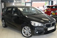 USED 2014 64 BMW 2 SERIES 2.0 218D SPORT ACTIVE TOURER 5d 148 BHP FULL BMW SERVICE HISTORY + PANORAMIC ROOF + FRONT AND REAR PARKING SENSORS + 18 INCH ALLOYS + ELECTRIC SEATS WITH MEMORY + BLUETOOTH + DAB RADIO
