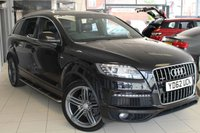 USED 2012 62 AUDI Q7 3.0 TDI QUATTRO S LINE PLUS 5DR AUTO 245 BHP FULL SERVICE HISTORY + FULL LEATHER INTERIOR + SATELLITE NAVIGATION + BLUETOOTH + 7 SEATER + HEATED SPORT SEATS + CRUISE CONTROL + DAB RADIO + PARKING SENSORS + 21 INCH ALLOY WHEELS