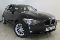 USED 2013 63 BMW 1 SERIES 1.6 116D EFFICIENTDYNAMICS 5DR 114 BHP FULL SERVICE HISTORY + PARKING SENSOR + BLUETOOTH + CRUISE CONTROL + MULTI FUNCTION WHEEL + 16 INCH ALLOY WHEELS