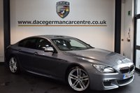 USED 2013 13 BMW 6 SERIES 3.0 640D M SPORT GRAN COUPE 4DR AUTO 309 BHP + FULL LEATHER INTERIOR + FULL BMW SERVICE HISTORY + 1 OWNER FROM NEW + PRO SATELLITE NAVIGATION + BLUETOOTH + FULL PANORAMIC ROOF + HEATED SPORT SEATS + HEAD-UP DISPLAY + SURROUND VIEW CAMERA + DAB RADIO + CRUISE CONTROL + PARKING SENSORS + 19 INCH ALLOY WHEELS +