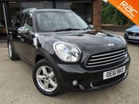 USED 2012 61 MINI COUNTRYMAN 1.6 COOPER D ALL4 5d 112 BHP PANO ROOF HEATED SEATS AND HEATED WINDSCREEN ONE PREVIOUS, FULL LEATHER, SAT NAV, CLIMATE CONTROL, FULL SERVICE HISTORY, SPARE KEY