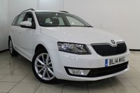 USED 2014 14 SKODA OCTAVIA 1.6 ELEGANCE TDI CR 5DR 104 BHP HALF LEATHER SEATS + SAT NAVIGATION + 0% FINANCE AVAILABLE T&C'S APPLY + PARKING SENSOR + BLUETOOTH + CRUISE CONTROL + MULTI FUNCTION WHEEL