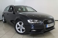 USED 2014 14 AUDI A4 2.0 AVANT TDI SE TECHNIK 5DR 134 BHP SAT NAVIGATION + 0% FINANCE AVAILABLE T&C'S APPLY + BLUETOOTH + SPORT SEATS + CRUISE CONTROL + PARKING SENSORS + 17 INCH ALLOY WHEELS