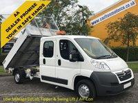 USED 2012 12 CITROEN RELAY 35 L3 HDI 130 D/Cab 7s Tipper A/Con Low Mileage Alloy Body+Swing Lift Crane