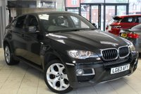USED 2013 63 BMW X6 3.0 XDRIVE30D 4d AUTO 241 BHP FULL BMW SERVICE HISTORY + FULL BLACK LEATHER SEATS + PRO SAT NAV + BLUETOOTH + CRUISE CONTROL + DAB RADIO + 19 INCH ALLOYS + PARKING SENSORS