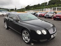 USED 2005 05 BENTLEY CONTINENTAL 6.0 GT 2d AUTO 550 BHP Metallic Black with Tan leather, 20 inc alloys, low miles & FSH