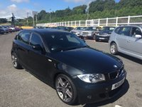 USED 2011 11 BMW 1 SERIES 2.0 116D PERFORMANCE EDITION 5d 114 BHP Black half leather sports seats stitched Blue, Performance Ed lights & more