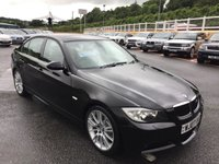 USED 2007 07 BMW 3 SERIES 3.0 330D M SPORT 4d AUTO 228 BHP Sapphire Black metallic with Sand Beige full M-Sports leather interior