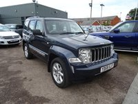 USED 2009 59 JEEP CHEROKEE 2.8 LIMITED 5d AUTO 175 BHP 2 FORMER KEEPERS MOT TIL SEPT 2017 With contrasting Grey Leather Trim, Automatic Tiptronic Gearbox, Cup Holders, Cruise Control, 2 stage Electric Seats and Mirrors, Centre Arm Rest with Storage, Folding door Mirrors, Multi-function 2 tone Leather Steering Wheel, Heated Seats, Park Distance Control, Air Conditioning, Four Wheel Drive Functions, Hill Decent, Rear Head Rests on Folding Seats, Iso-fix ESP Traction Control, Locking Wheel Nuts, Radio Stereo CD Player, Multi spoke Alloys, Load Cover,