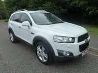 USED 2012 62 CHEVROLET CAPTIVA 2.2 LTZ VCDI 5d AUTO 184 BHP STUNNING AUTOMATIC CHEVROLET CAPTIVA IN WHITE WITH SEVEN SEATS, ONE PREVIOUS OWNER, FULL BLACK LEATHER, CLIMATE CONTROL, CRUISE CONTROL, ALLOY WHEELS AND SERVICE HISTORY