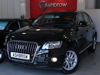 USED 2014 14 AUDI Q5 2.0 TDI QUATTRO SE 5d 177 S/S UPGRADE TECHNOLOGY PACK HIGH INCLUDING HDD SAT NAV WITH JUKEBOX AUDI PARKING SYSTEM PLUS FRONT & REAR WITH DISPLAY DVD PLAYER AUDI MUSIC INTERFACE (AMI) RADIO SYSTEM FOR MMI PLUS & VOICE DIALOGUE SYSTEM, UPGRADE HEATED FRONT SEATS, UPGRADE DESIGN PACK INCLUDING ALCANTARA LEATHER & FRONT SPORT SEATS, UPGRADE STORAGE PACK, UPGRADE ELECTRIC FRONT SEATS WITH DRIVER MEMORY, UPGRADE ELECTRIC LUMBAR SUPPORT, UPGRADE ELECTRIC HEATED FOLDING DIMMING MEMORY MIRRORS, DAB RADIO, BLUETOOTH, WLAN, FSH, 1OWNER