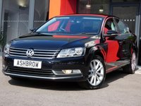 USED 2014 14 VOLKSWAGEN PASSAT 2.0 TDI EXECUTIVE BLUEMOTION TECH 4d 140 S/S £30 TAX, 1 OWNER FROM NEW, FULL SERVICE HISTORY, SAT NAV, HEATED FRONT SEATS, FULL BLACK LEATHER, FRONT+ REAR PARKING SENSORS W/ DISPLAY, BLUETOOTH W/ AUDIO STREAMING, DAB DIGITAL RADIO, CRUISE, LEATHER MULTIFUNCTION STEERING WHEEL, AUTO LIGHTS + WIPERS, AUTO DIM REAR VIEW MIRROR, MDI + AUX  FOR IPOD / USB / MP3, 17 INCH TWIN 5 SPOKE ALLOYS, ELECTRICALLY ADJUSTABLE HEATED DOOR MIRRORS, ELECTRIC WINDOWS, FULL SIZE SPARE WHEEL, VAT QUALIFYING