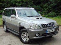 USED 2004 04 HYUNDAI TERRACAN 2.9 CDX CRTD 5d 161 BHP JUST BEEN SERVICED AND 12 MONTHS MOT