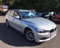 USED 2014 14 BMW 3 SERIES 2.0 320D EFFICIENTDYNAMICS BUSINESS TOURING 5d 161 BHP ONE OWNER, FULL BMW SERVICE HISTORY, ONLY £30 PER YEAR TAX, SATELLITE NAVIGATION, REAR PARKING SENSORS, FULL LEATHER UPHOLSTERY, HEATED SEATS, BLUETOOTH TELEPHONE CONNECTION, DAB RADIO, CRUISE CONTROL, ELECTRIC SPLIT TAILGATE + MUCH MORE!