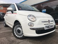 USED 2014 63 FIAT 500 1.2 LOUNGE DUALOGIC 3d AUTO 69 BHP ONLY 7331 MILES!!! AIR CON, 1/2 LEATHER, SUNROOF! STUNNING 1 LADY OWNER