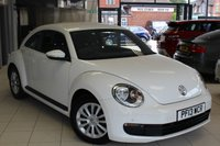 USED 2013 13 VOLKSWAGEN BEETLE 1.2 TSI 3d 103 BHP FULL SERVICE HISTORY + DAB RADIO + PARROT HANDS FREE KIT + AUX PORT + 16 INCH STEEL WHEELS + REAR PARKING SENSORS + ELECTRIC WINDOWS + HILL START ASSIST + AIR CONDITIONING