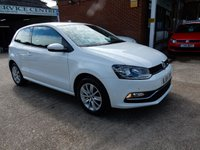 USED 2014 64 VOLKSWAGEN POLO 1.2 SE TSI 3d 89 BHP FULL VW HISTORY,AIR CON,AUX AND USB PORTS