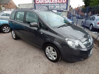 USED 2012 62 VAUXHALL ZAFIRA 1.6 EXCLUSIV 5d 113 BHP 7 SEATER 7 SEATER, LOW MILEAGE, F.S.H, GREAT VALUE