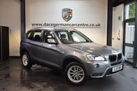 USED 2013 13 BMW X3 2.0 XDRIVE20D SE 5DR  AUTO 181 BHP + FULL BLACK LEATHER INTERIOR + PRO SATELLITE NAVIGATION + BMW SERVICE HISTORY + BLUETOOTH + XENON LIGHTS + DAB RADIO + CRUISE CONTROL + CLIMATE CONTROL + PARKING SENSORS + 17 INCH ALLOY WHEELS +