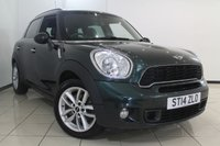 USED 2014 14 MINI COUNTRYMAN 1.6 COOPER S 5DR 184 BHP LEATHER SEATS + AIR CONDITIONING + PARKING SENSOR + BLUETOOTH + RADIO/CD + ALLOY WHEELS