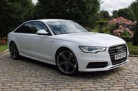 USED 2014 14 AUDI A6 2.0 TDI ULTRA S LINE BLACK EDITION 4d AUTO 188 BHP IBIS WHITE, FULL BLACK LEATHER, NAV