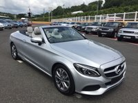 USED 2017 17 MERCEDES-BENZ C CLASS CABRIOLET C220d SPORT PREMIUM PLUS 9G Auto 168 BHP New with delivery miles save £5,500 off list with high specification