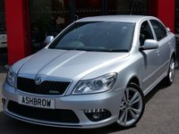 USED 2010 10 SKODA OCTAVIA 2.0 TDI CR VRS 5d 170 BHP UPGRADE ACOUSTIC REAR PARKING SENSORS WITH DISPLAY, UPGRADE AUTO DIMMING REAR VIEW MIRROR, UPGRADE LIGHT & RAIN SENSORS, UPGRADE MAXI DOT TRIP COMPUTER, UPGRADE TOOL KIT, UPGRADE SPACE SAVER SPARE WHEEL, LED DAYTIME RUNNING LIGHTS, FRONT FOG LIGHTS, REAR SPOILER, 18 INCH 10 SPOKE ALLOYS, GREY 1/2 LEATHER INTERIOR, LEATHER SPORT STEERING WHEEL, CRUISE CONTROL, TYRE PRESSURE MONITOR (TPMS), DUAL CLIMATE AIR CON, BOLERO RADIO WITH 6CD CHANGER & SD CARD READER, 1 OWNER, FULL SERVICE HISTORY