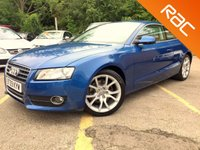 USED 2009 09 AUDI A5 2.0 TFSI SPORT 2d 178 BHP FSH FULL LEATHER 1 FORMER KEEPER, 6 SERVICES FULL LEATHER