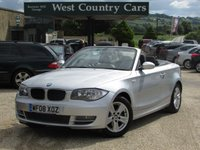 USED 2008 08 BMW 1 SERIES 2.0 120I SE 2d 168 BHP Excellent Condition 4 Seat Convertible
