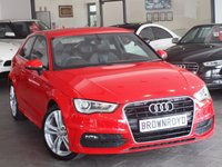 USED 2013 13 AUDI A3 1.6 TDI S LINE 3d 104 BHP FSH+XENONS+LEATHER+