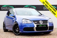 """USED 2007 VOLKSWAGEN GOLF 3.2 R32 3d 250 BHP **£0 DEPOSIT FINANCE AVAILABLE**SECURE WITH A £99 FULLY REFUNDABLE DEPOSIT** ELECTRIC SUNROOF, 18"""" BBS CHS ALLOYS, PRIVACY GLASS, FULL LEATHER UPHOLSTERY + HEATED FRONT SEATS, CD PLAYER, ELECTRIC WINDOWS + WING MIRRORS, FULL SERVICE HISTORY + MOT"""