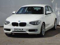 USED 2012 12 BMW 1 SERIES 2.0 118D SE 5d 141 BHP ALPINE WHITE, FSH, PDC, £30 TAX