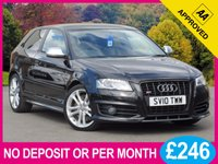 USED 2010 10 AUDI A3 2.0 S3 TFSI QUATTRO S LINE BLACK EDITION 3d 261 BHP XENONS LEATHER 18 INCH ALLOYS