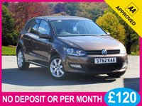 USED 2013 62 VOLKSWAGEN POLO 1.2 MATCH TDI 5dr74 BHP £20 ROAD TAX FULL VW HISTORY