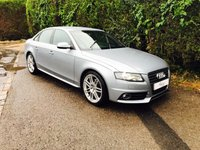 2010 AUDI A4 2.0 TDI S LINE SPECIAL EDITION 4d AUTO 141 BHP £10495.00