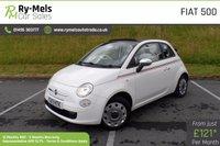 USED 2013 13 FIAT 500 1.2 C POP 3d 69 BHP LOW MILEAGE, £30 TAX, CONVERTIBLE