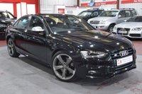 2013 AUDI A4 3.0 S4 QUATTRO BLACK EDITION 4d AUTO 329 BHP £25485.00