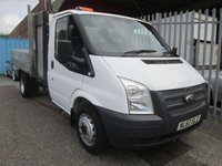 2012 FORD TRANSIT 350 Single Cab Alloy Tipper 100 PS *Low Miles*S/History* £10495.00