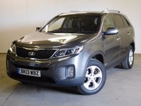 USED 2013 13 KIA SORENTO 2.2 CRDI KX-2 5d 194 BHP FACELIFT LEATHER ONE OWNER FSH 4WD. FACELIFT MODEL. 7 SEATER. STUNNING GREY WITH FULL BLACK LEATHER TRIM. HEATED SEATS. CRUISE CONTROL. 17 INCH ALLOYS. COLOUR CODED TRIMS. PRIVACY GLASS. PARKING SENSORS. REVERSING CAMERA. BLUETOOTH PREP. CLIMATE CONTROL. TRIP COMPUTER. R/CD PLAYER. 6 SPEED MANUAL. MFSW. TOWBAR. MOT 07/18. ONE OWNER FROM NEW. FULL SERVICE HISTORY. PRISTINE CONDITION. FCA FINANCE APPROVED DEALER. TEL 01937 849492