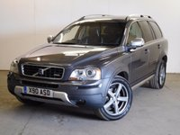 USED 2009 59 VOLVO XC90 2.4 D5 R-DESIGN SE AWD 5d AUTO 185 BHP 7 SEATER LEATHER FSH X90ASD PRIVATE PLATE INCLUDED. 4WD. 7 SEATER. STUNNING GREY MET WITH FULL BLACK LEATHER R DESIGN TRIM. ELECTRIC MEMORY SEATS. CRUISE CONTROL. 19 INCH ALLOYS. COLOUR CODED TRIMS. PARKING SENSORS. BLIND SPOT DETECTION. CLIMATE CONTROL. R/CD PLAYER. MFSW. MOT 07/18. ONE OWNER FROM NEW. FULL DEALER SERVICE HISTORY. PRISTINE CONDITION. FCA FINANCE APPROVED DEALER. TEL 01937 849492.
