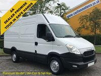 """USED 2014 14 IVECO-FORD DAILY 35S13 """"Platinum"""" High Roof [ Air Con / Sat Nav Cruise ] Van 3300wb Ex Lease Free UK Delivery"""