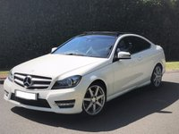 USED 2015 15 MERCEDES-BENZ C CLASS 2.1 C250 CDI AMG SPORT EDITION PREMIUM PLUS 2dr MEGA SPEC PANROOF-H SEATS+MORE PANROOF+COMMAND+REV CAM+PRIVACY