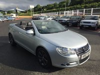 USED 2007 07 VOLKSWAGEN EOS 2.0 SPORT TDI 2d 138 BHP Only 55,000 miles, power folding hard roof, full leather & heated seats