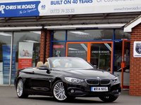 USED 2014 14 BMW 4 SERIES 2.0 420D LUXURY 2dr Convertible (181) * Sat Nav & Leather *