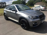 USED 2013 63 BMW X6 3.0 XDRIVE30D 4d AUTO 241 BHP GREAT LOOKING X6 IN GREY MET WITH BLACK ALLOYS AND TRIMS FULL BLACK LEATHER AND ONLY 51000 MILES WITH FSH