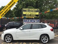 USED 2013 63 BMW X1 2.0 XDRIVE18D M SPORT 5d AUTO 141 BHP STUNNING ALPINE WHITE PAINT WORK ,SUMPTUOUS DAKOTA CORAL LEATHER INTERIOR, FULL M SPORT BODY STYLING AND ALLOYS, DAB RADIO, BLUETOOTH, CD PLAYER,STUNNING LOW MILEAGE EXAMPLE USB,