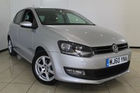 USED 2011 60 VOLKSWAGEN POLO 1.2 MODA A/C 5DR 60 BHP FULL VW SERVICE HISTORY + AIR CONDITIONING + RADIO/CD + AUXILIARY PORT + ALLOY WHEELS